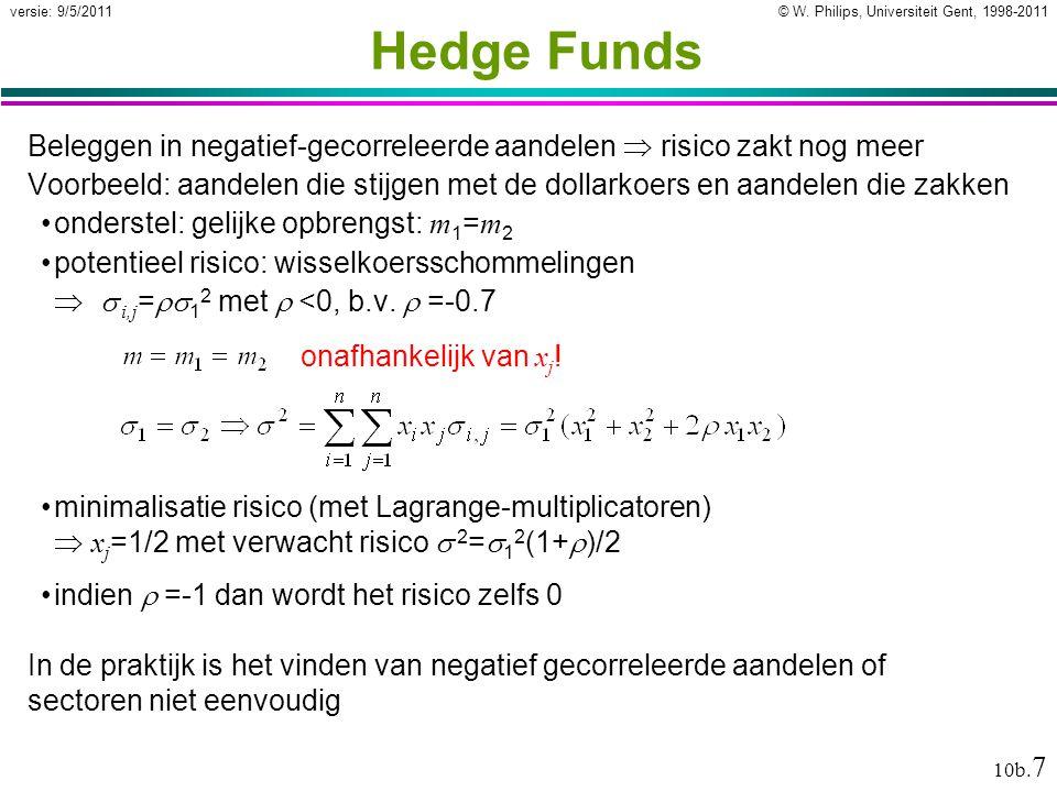 © W. Philips, Universiteit Gent, 1998-2011versie: 9/5/2011 10b.