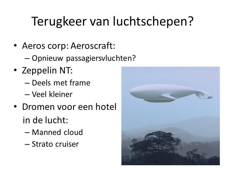 Terugkeer van luchtschepen. Aeros corp: Aeroscraft: – Opnieuw passagiersvluchten.