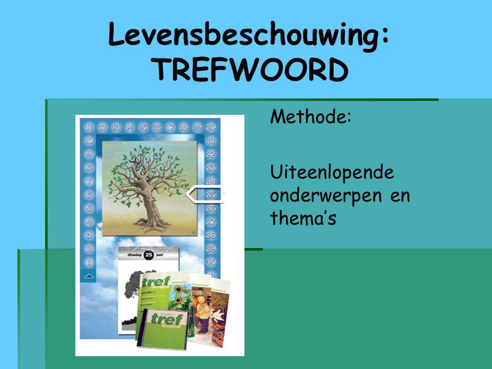 Levensbeschouwing: TREFWOORD Methode: Uiteenlopende onderwerpen en thema's