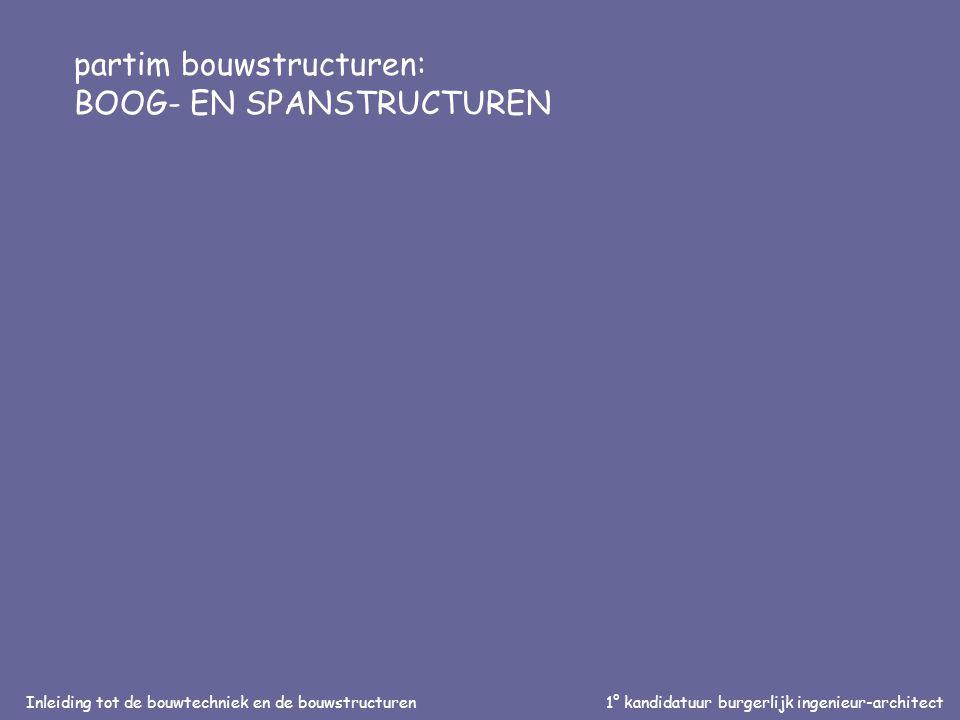 Inleiding tot de bouwtechniek en de bouwstructuren1° kandidatuur burgerlijk ingenieur-architect partim bouwstructuren: BOOG- EN SPANSTRUCTUREN