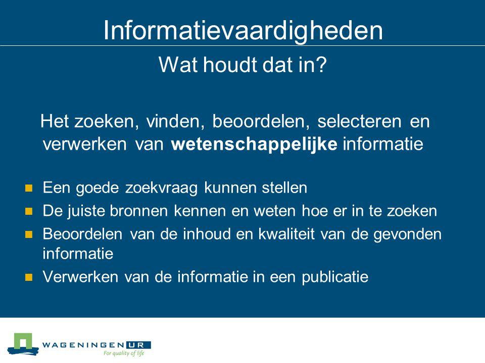 Informatievaardigheden Fysieke bibliotheek (boeken)