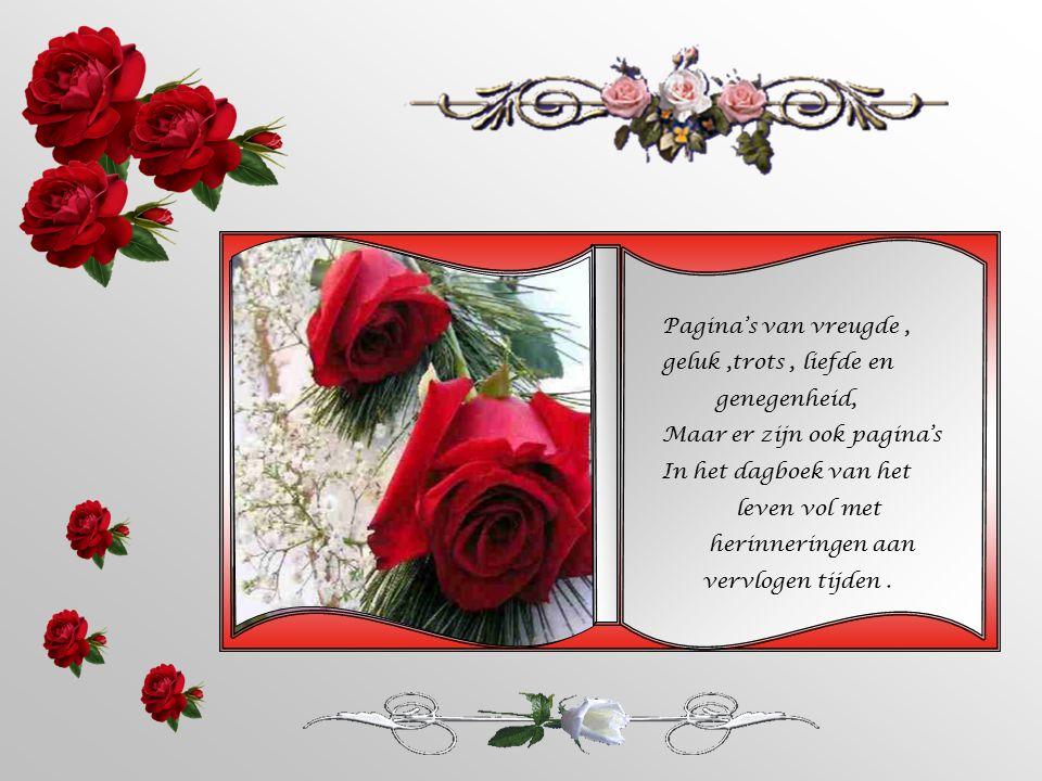 Pagina's van vreugde, geluk,trots, liefde en genegenheid, Maar er zijn ook pagina's In het dagboek van het leven vol met herinneringen aan vervlogen tijden.