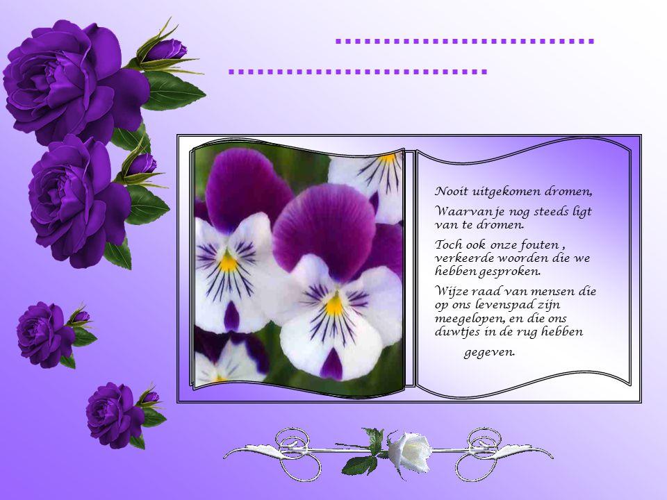 Pagina's van vreugde, geluk,trots, liefde en genegenheid, Maar er zijn ook pagina's In het dagboek van het leven vol met herinneringen aan vervlogen t