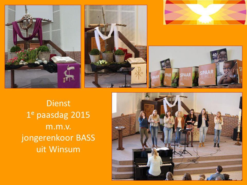 Dienst 1 e paasdag 2015 m.m.v. jongerenkoor BASS uit Winsum