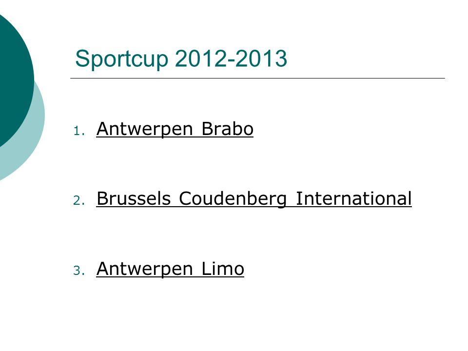 1. Antwerpen Brabo 2. Brussels Coudenberg International 3. Antwerpen Limo