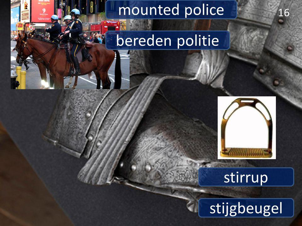 stijgbeugel stirrup 16 bereden politie mounted police