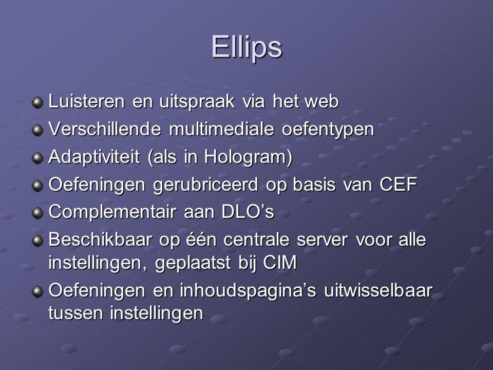 Demonstratie Website: http://www.let.uu.nl/digitalenklas http://www.let.uu.nl/digitalenklas Documentuitwisseling: http://dms.let.uu.nl/digitalenklas http://dms.let.uu.nl/digitalenklas DLO's: Leiden: http://www.let.leidenuniv.nl/blackboard/ Leiden: http://www.let.leidenuniv.nl/blackboard/http://www.let.leidenuniv.nl/blackboard/ Tilburg: http://dlo.kub.nl Tilburg: http://dlo.kub.nlhttp://dlo.kub.nl Utrecht: http://webct.clz.let.uu.nl:8900/webct/homearea/homearea Utrecht: http://webct.clz.let.uu.nl:8900/webct/homearea/homearea http://webct.clz.let.uu.nl:8900/webct/homearea/homearea Groningen: http://nestor.rug.nl Groningen: http://nestor.rug.nlhttp://nestor.rug.nl Ellips: Docent: http://ellips.let.uu.nl/admin Docent: http://ellips.let.uu.nl/adminhttp://ellips.let.uu.nl/admin Student: http://ellips.let.uu.nl Student: http://ellips.let.uu.nlhttp://ellips.let.uu.nl SURFNet Videoportal: http://video.surfnet.nl http://video.surfnet.nl