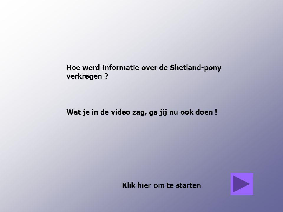 Hoe werd informatie over de Shetland-pony verkregen .
