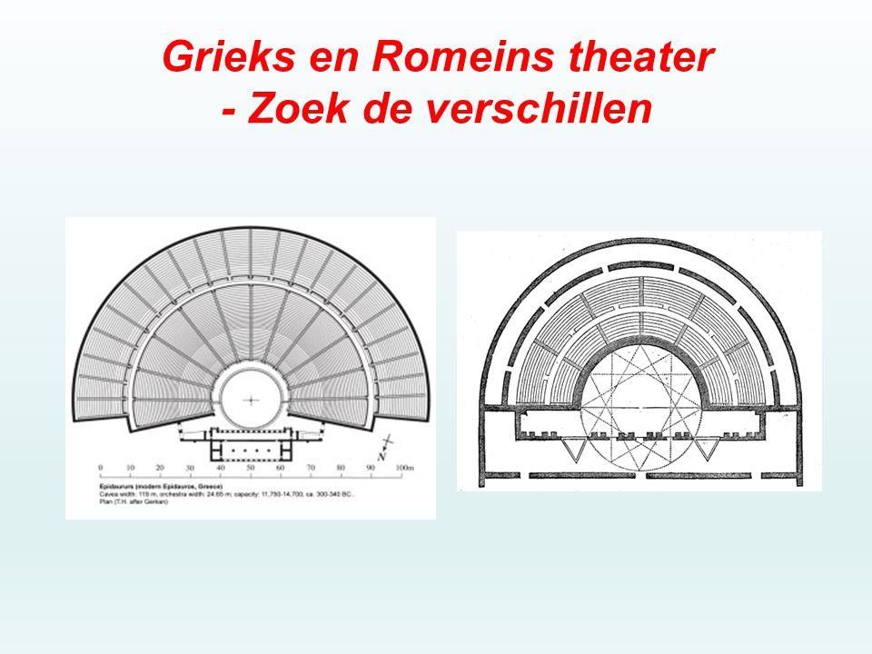 Grieks en Romeins theater - Zoek de verschillen