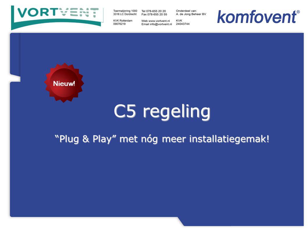 C5 regeling Plug & Play met nóg meer installatiegemak! Nieuw!