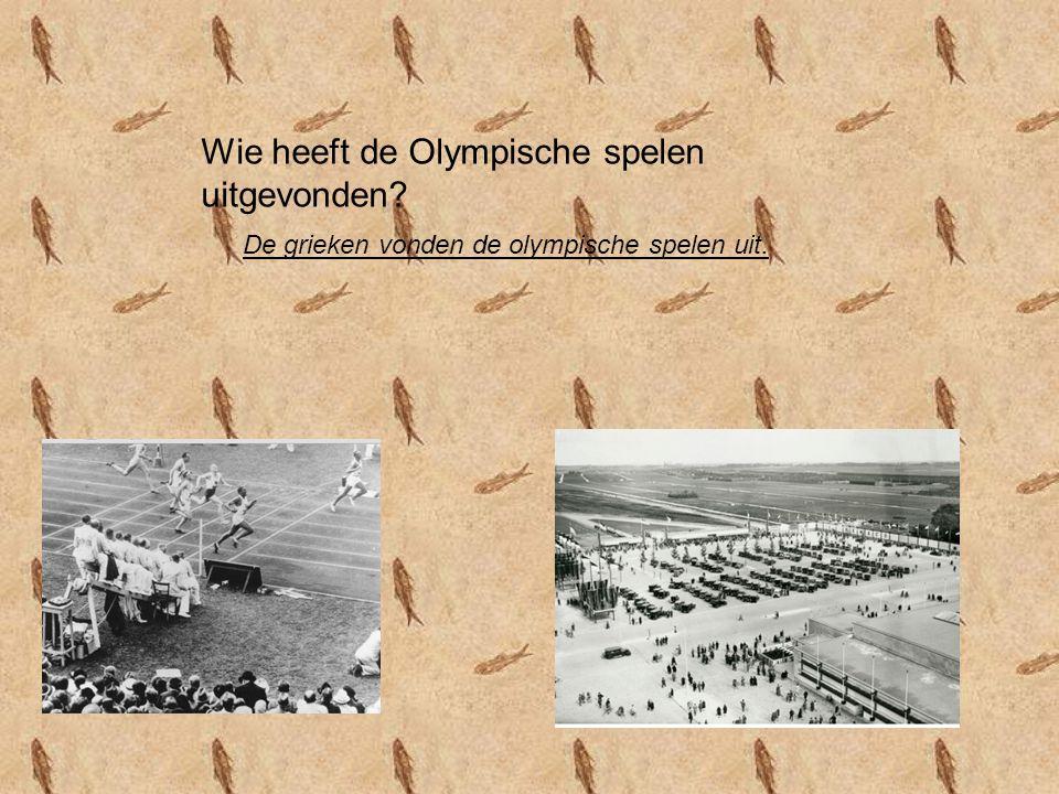 Wie heeft de Olympische spelen uitgevonden? De grieken vonden de olympische spelen uit.