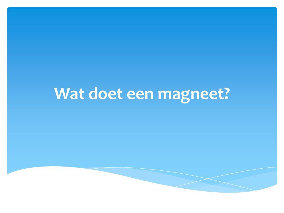 Wat doet een magneet?