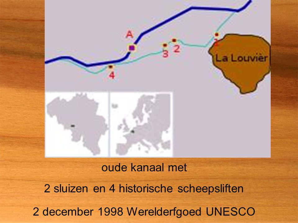 oude kanaal met 2 sluizen en 4 historische scheepsliften 2 december 1998 Werelderfgoed UNESCO