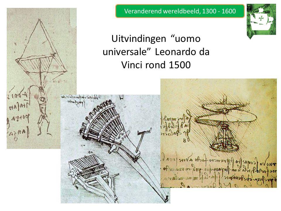 "Uitvindingen ""uomo universale"" Leonardo da Vinci rond 1500"
