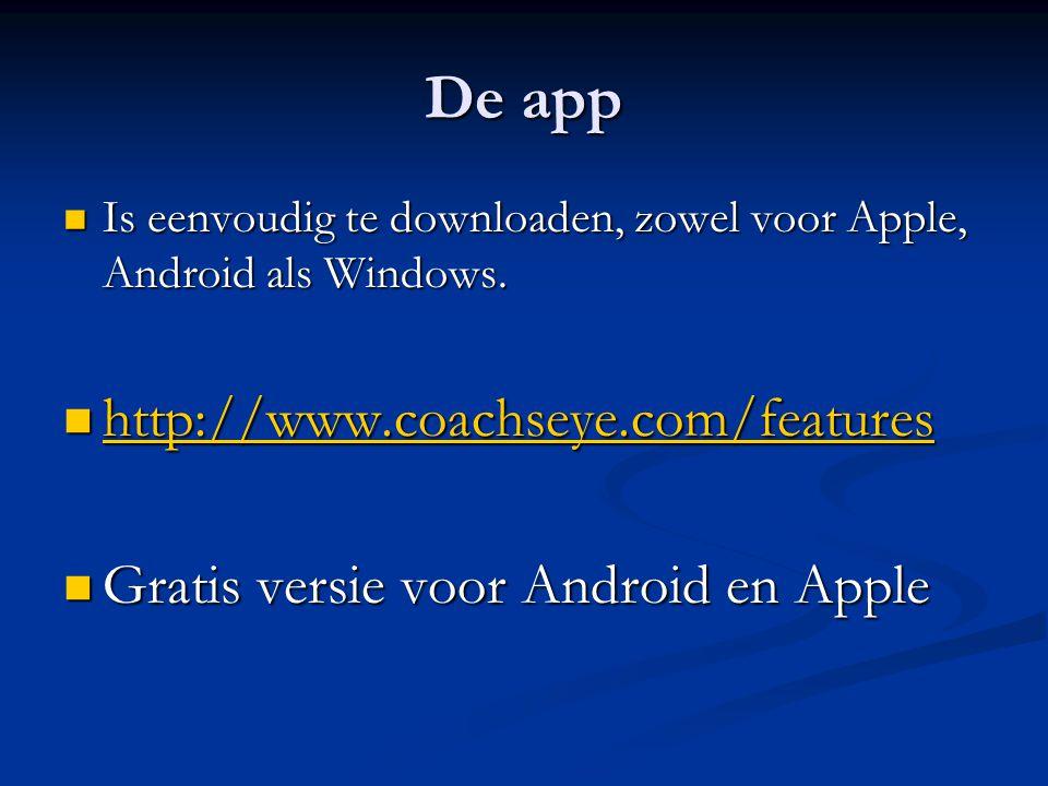 De app Is eenvoudig te downloaden, zowel voor Apple, Android als Windows.