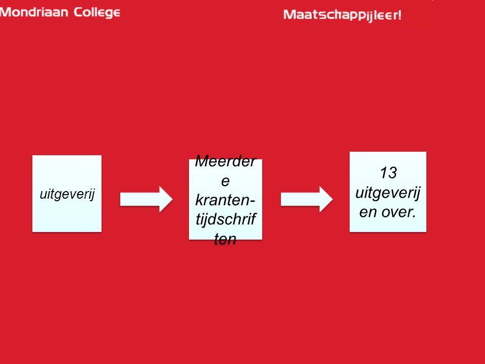 uitgeverij Meerder e kranten- tijdschrif ten 13 uitgeverij en over.
