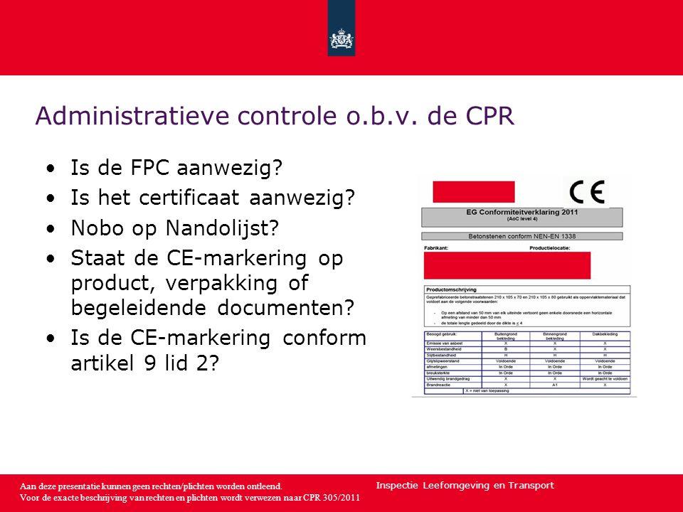 Inspectie Leefomgeving en Transport Aan deze presentatie kunnen geen rechten/plichten worden ontleend.