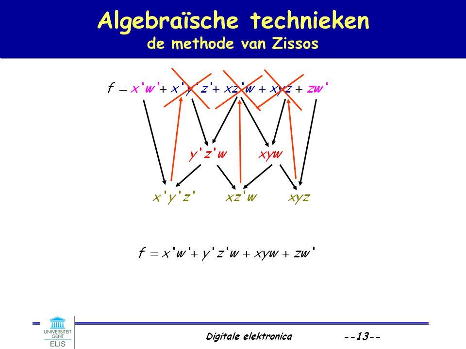 Digitale elektronica --13-- Algebraïsche technieken de methode van Zissos
