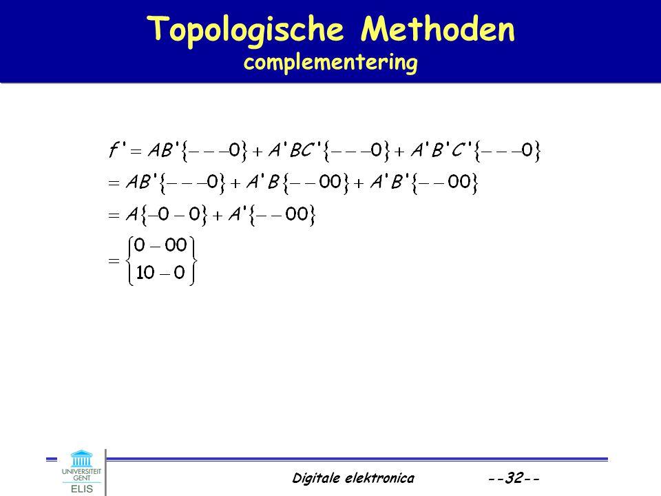 Digitale elektronica --32-- Topologische Methoden complementering