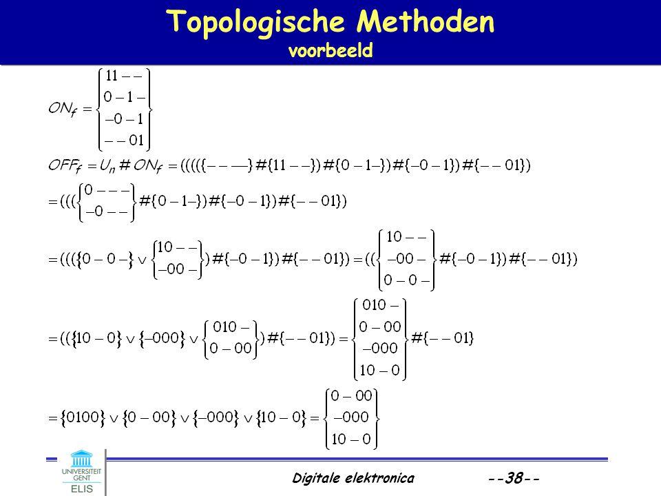 Digitale elektronica --38-- Topologische Methoden voorbeeld
