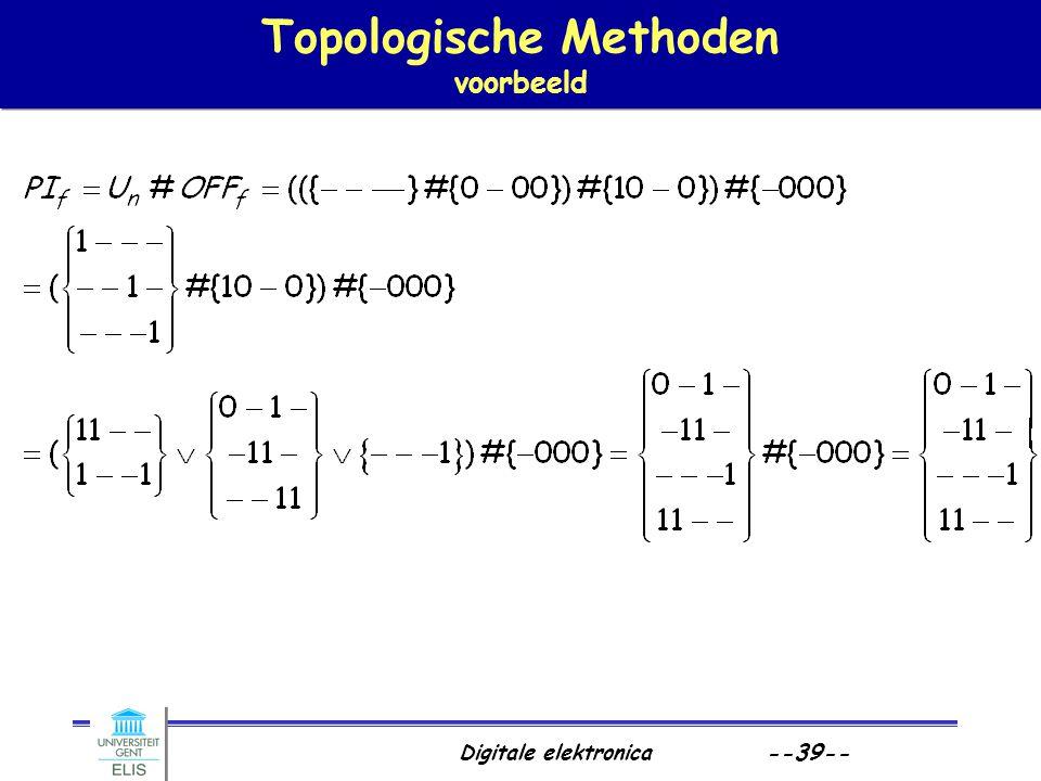 Digitale elektronica --39-- Topologische Methoden voorbeeld