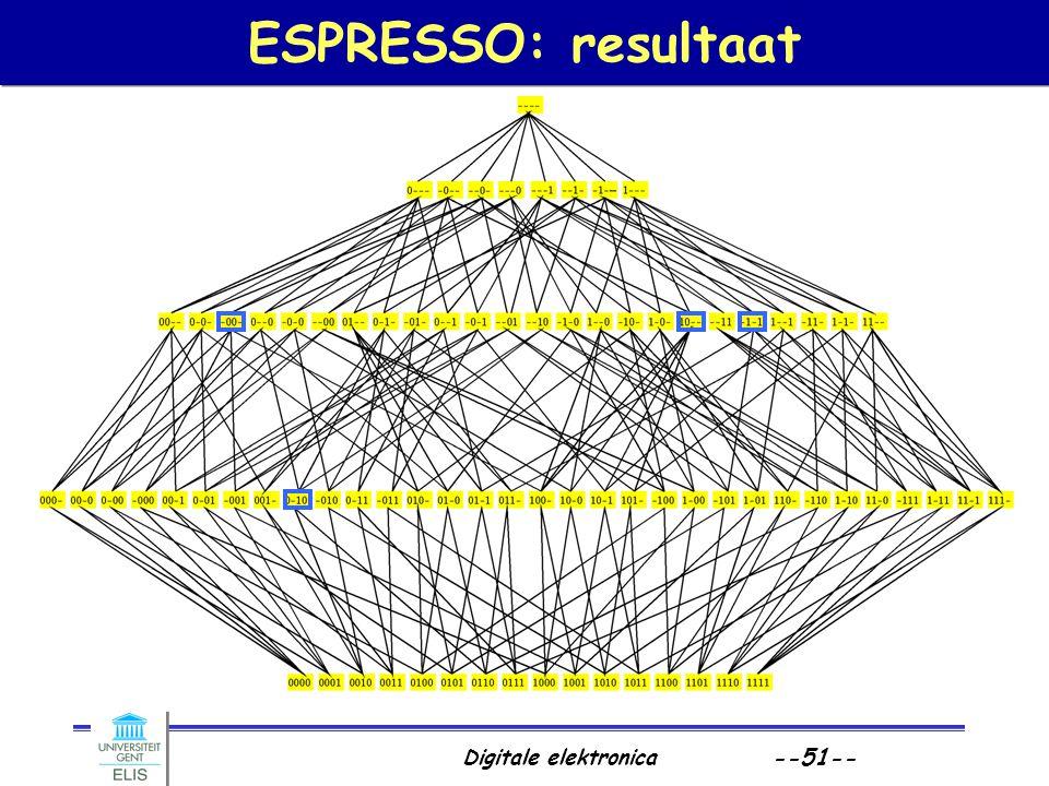 Digitale elektronica --51-- ESPRESSO: resultaat