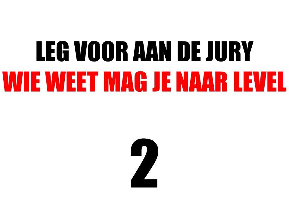 LEG VOOR AAN DE JURY WIE WEET MAG JE NAAR LEVEL 2