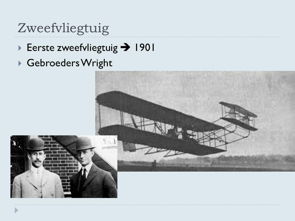 Zweefvliegtuig  Eerste zweefvliegtuig  1901  Gebroeders Wright