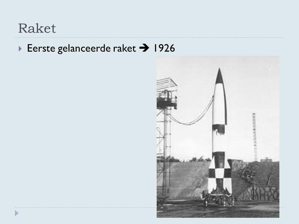 Raket  Eerste gelanceerde raket  1926