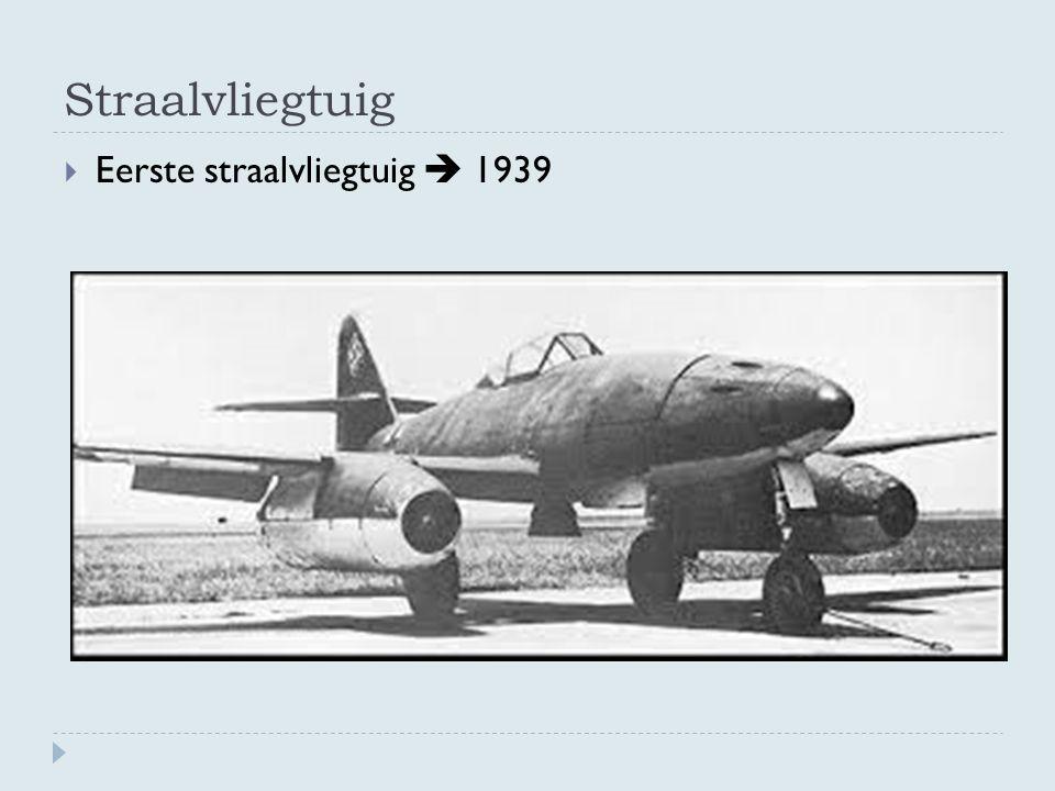 Straalvliegtuig  Eerste straalvliegtuig  1939