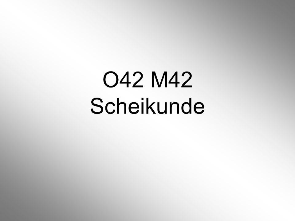 O42 M42 Scheikunde