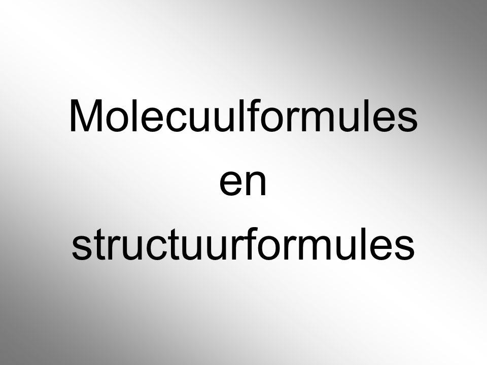 Molecuulformules en structuurformules