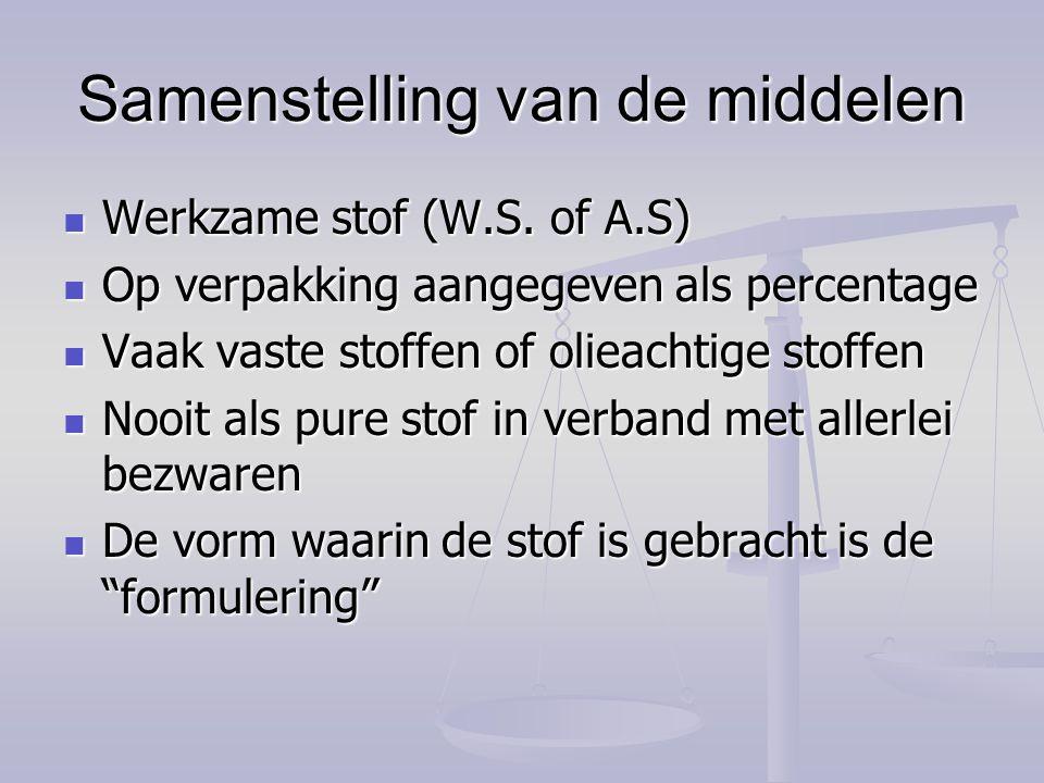 De veiligheidstermijn De tijd tussen de laatste toepassing en de oogst.