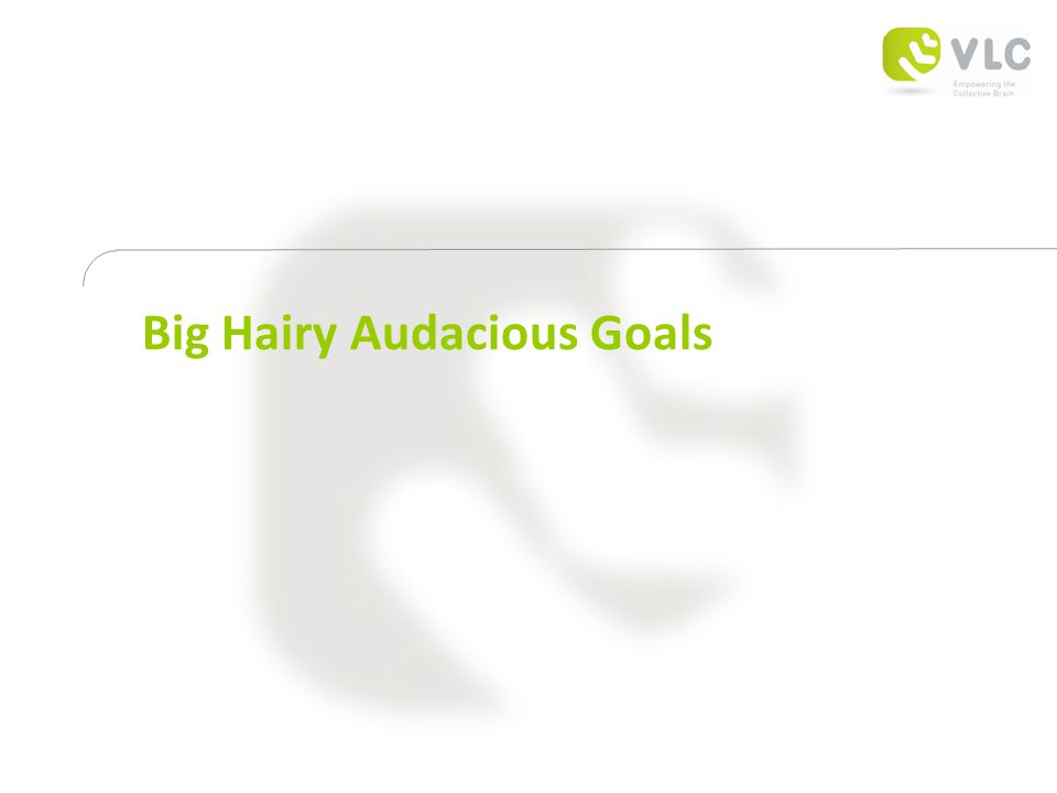 Big Hairy Audacious Goals