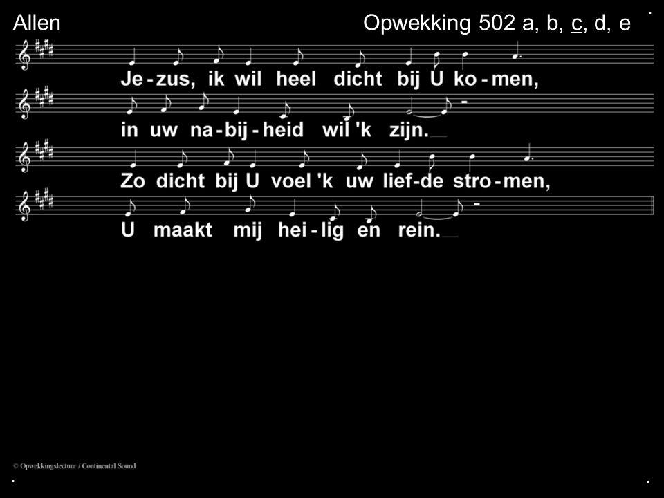 ... AllenOpwekking 502 a, b, c, d, e