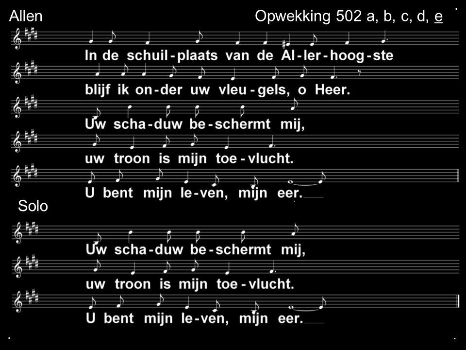 ... AllenOpwekking 502 a, b, c, d, e Solo