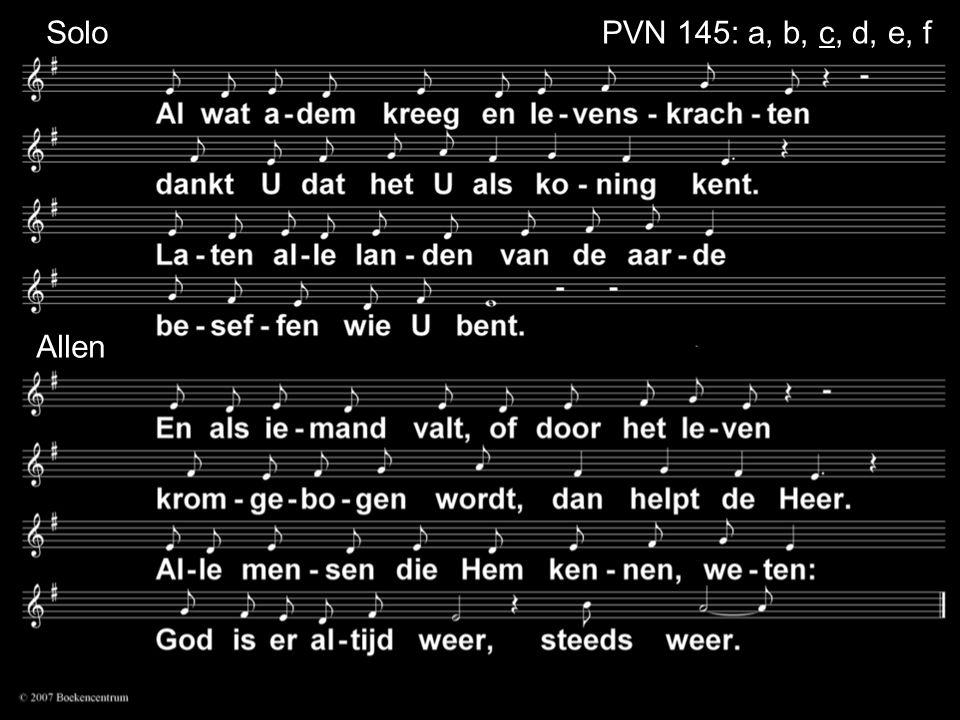 Solo Allen PVN 145: a, b, c, d, e, f