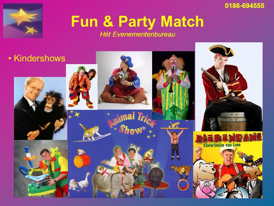 Fun & Party Match Hét Evenementenbureau Unieke attracties in eigen beheer Aantrekkelijk geprijsd 0186-694555