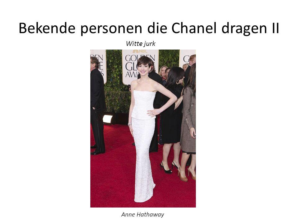 Bekende personen die Chanel dragen II Anne Hathaway Witte jurk