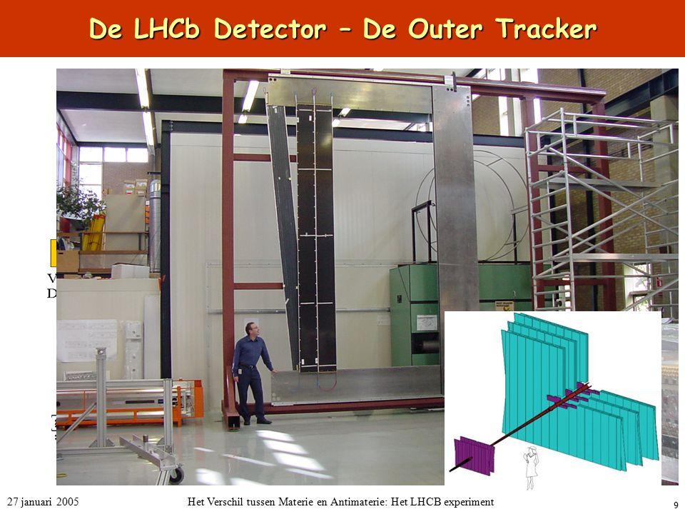 9 27 januari 2005Het Verschil tussen Materie en Antimaterie: Het LHCB experiment De LHCb Detector – De Outer Tracker