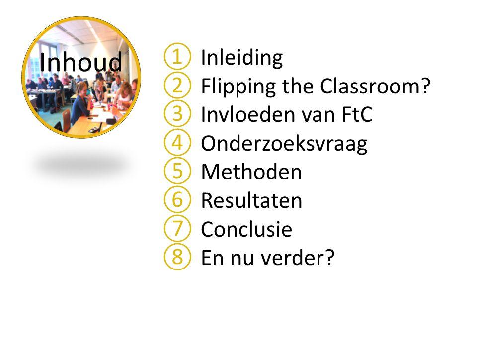 Inhoud ①Inleiding ②Flipping the Classroom.
