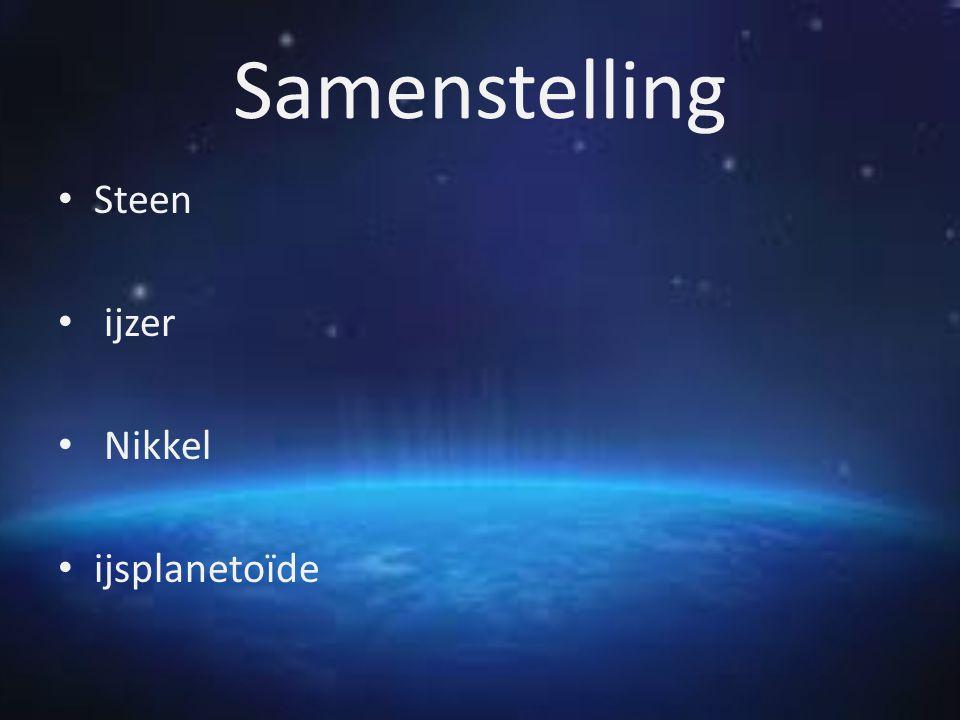 Samenstelling Steen ijzer Nikkel ijsplanetoïde