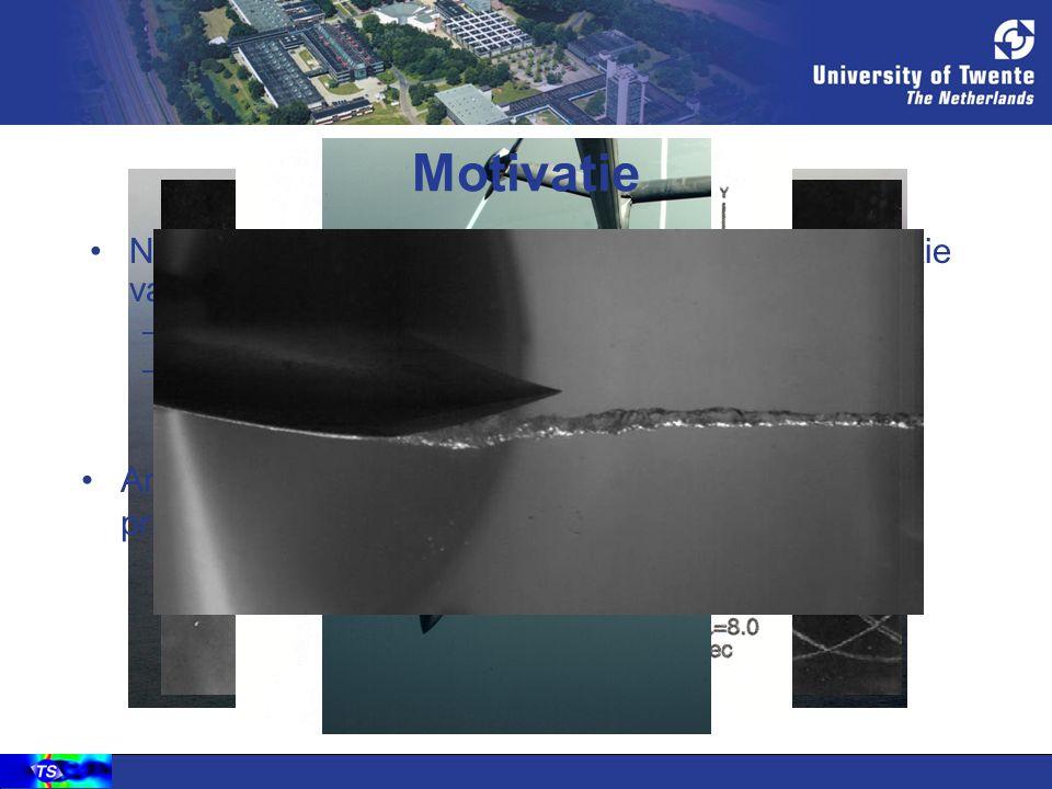 Motivatie Numerieke dissipatie bemoeilijkt numerieke simulatie van compacte wervelstructuren. Bijvoorbeeld: –Spiraalvormige wervel windturbineblad –Ti