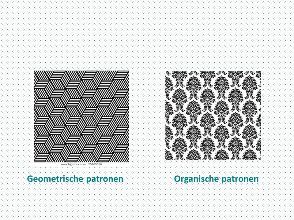 Geometrische patronenOrganische patronen