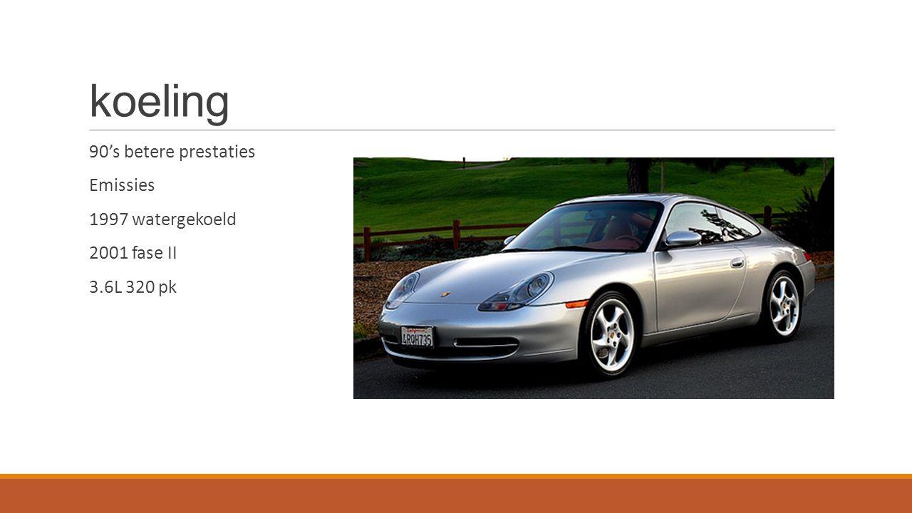 koeling 90's betere prestaties Emissies 1997 watergekoeld 2001 fase II 3.6L 320 pk