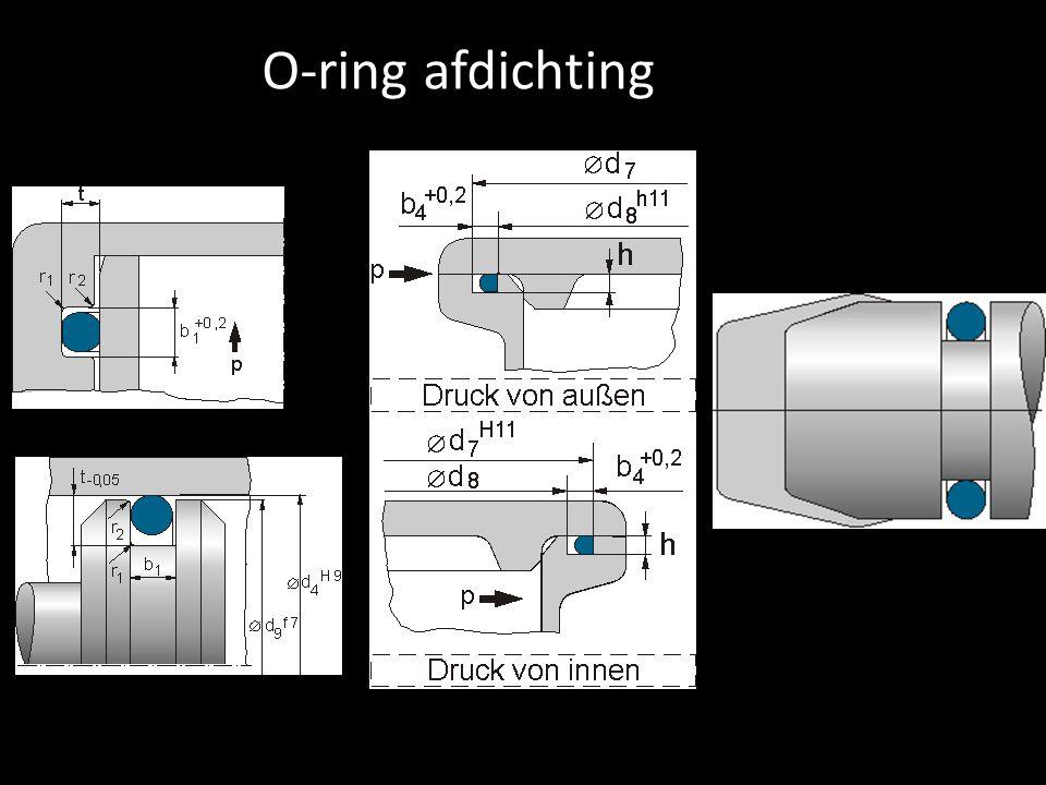 O-ring afdichting