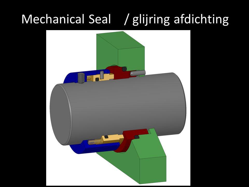 Mechanical Seal / glijring afdichting