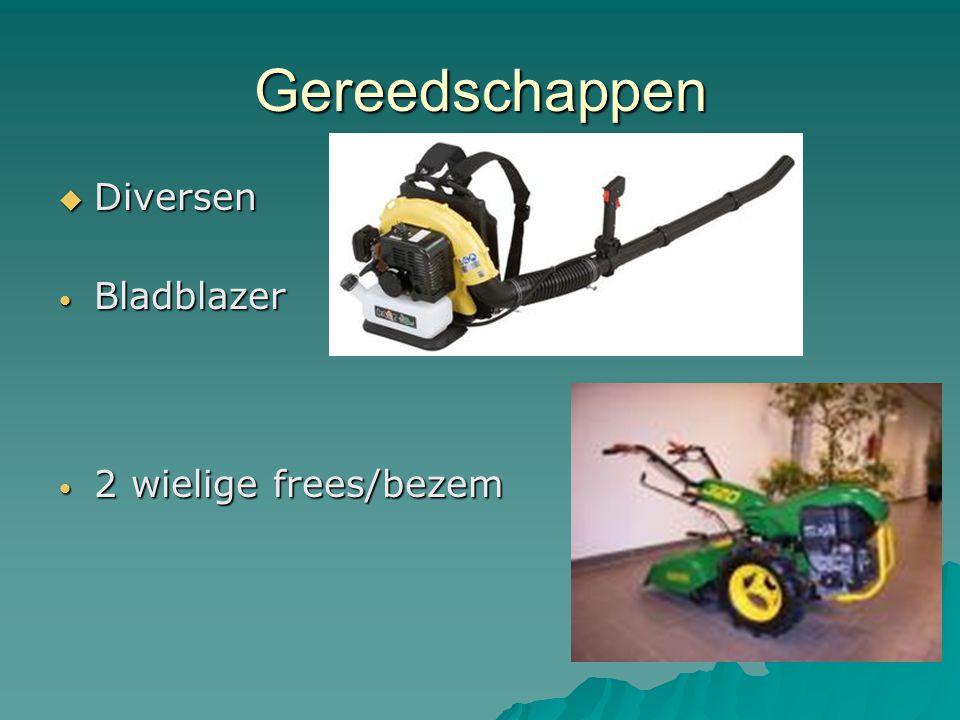 Gereedschappen  Diversen Bladblazer Bladblazer 2 wielige frees/bezem 2 wielige frees/bezem