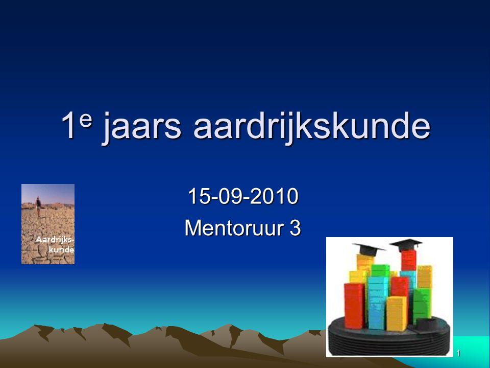 1 1 e jaars aardrijkskunde 15-09-2010 Mentoruur 3