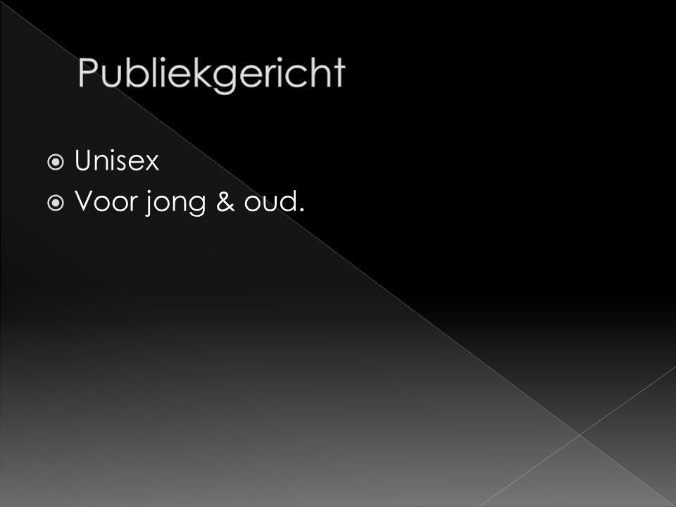  Unisex  Voor jong & oud.